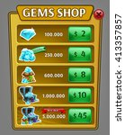 shop gems panel  game asset...