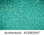 glitter turquoise green... | Shutterstock . vector #413381047