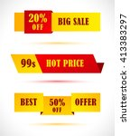 coupon sale  offers and... | Shutterstock .eps vector #413383297