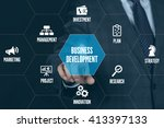 business development technology ... | Shutterstock . vector #413397133