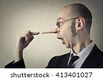business lie | Shutterstock . vector #413401027