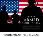 armed forces day template... | Shutterstock .eps vector #413412823