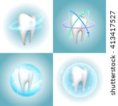 dental care tooth design... | Shutterstock .eps vector #413417527
