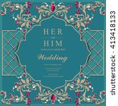 Wedding Invitation Or Card Wit...