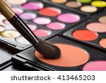 make up process starts with the ... | Shutterstock . vector #413465203