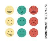 feedback emoji concept icon set ... | Shutterstock .eps vector #413476873