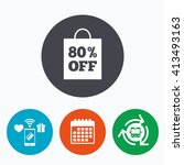 80  sale bag tag sign icon....   Shutterstock .eps vector #413493163