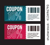 coupon design. sale icon.... | Shutterstock .eps vector #413496793