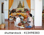 lumphun  thailand   april 16 ...   Shutterstock . vector #413498383