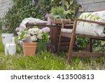spring garden | Shutterstock . vector #413500813