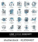 thin line icons set. business... | Shutterstock .eps vector #413504407