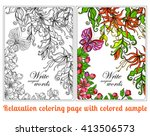 decorative flowers  birds and