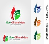 vector design of oil and gas... | Shutterstock .eps vector #413523943