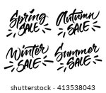set of handwritten season sale... | Shutterstock .eps vector #413538043