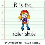 flashcard letter r is for... | Shutterstock .eps vector #413542867