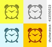 alarm clock icon on four... | Shutterstock .eps vector #413550523