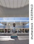 Small photo of LOS ANGELES, CALIFORNIA, USA - APRIL 26, 2014 : The Tom Bradley International Terminal (TBIT) has 18 gates; nine on the north concourse and nine on the south concourse