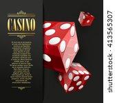 casino background. vector poker ...   Shutterstock .eps vector #413565307