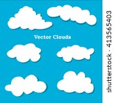 flat design clouds icons set....