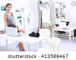 attractive businesswoman... | Shutterstock . vector #413588467