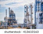 landscape view of refinery... | Shutterstock . vector #413610163