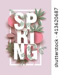 spring card with different... | Shutterstock .eps vector #413620687