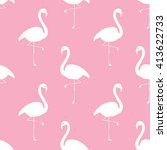 flamingo seamless pattern.... | Shutterstock .eps vector #413622733