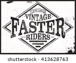 vintage riders t shirt graphic | Shutterstock .eps vector #413628763