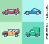 car automobile sportscar... | Shutterstock .eps vector #413633353