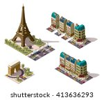 vector isometric icon set or... | Shutterstock .eps vector #413636293
