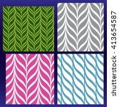 set of nature leaf in seamless...   Shutterstock .eps vector #413654587