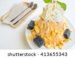 tea with milk  shaved ice  corn ... | Shutterstock . vector #413655343