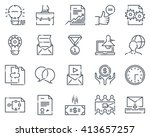project development icon set... | Shutterstock .eps vector #413657257