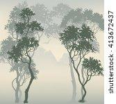 forest background | Shutterstock .eps vector #413672437