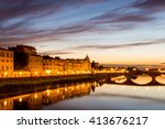 all around arno river in the... | Shutterstock . vector #413676217