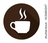 coffee cup icon flat vector... | Shutterstock .eps vector #413684347