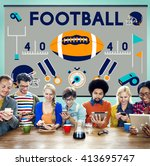football game ball play sports... | Shutterstock . vector #413695747