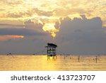 Amazing Sunrise With Silhouett...