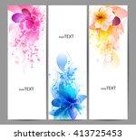 fantasy watercolor vector... | Shutterstock .eps vector #413725453