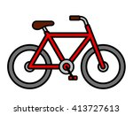 Colorful Red Cartoon Bicycle...