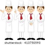 shef  smiling  set | Shutterstock . vector #413750593