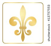 Golden Fleur De Lis Heraldic...