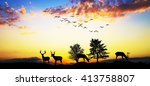 deers in the mountain | Shutterstock . vector #413758807