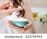 closeup of woman hands holding... | Shutterstock . vector #413759953
