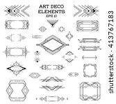 art deco frame. vintage. design