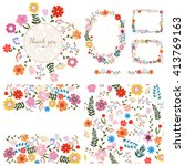 set of floral backgrounds.... | Shutterstock .eps vector #413769163