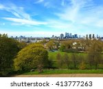 the skyline of london as seen... | Shutterstock . vector #413777263
