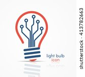 light bulb idea icon with... | Shutterstock .eps vector #413782663