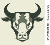 graphic illustration of a bull... | Shutterstock .eps vector #413783707