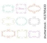 hand drawn vector frames.... | Shutterstock .eps vector #413785633